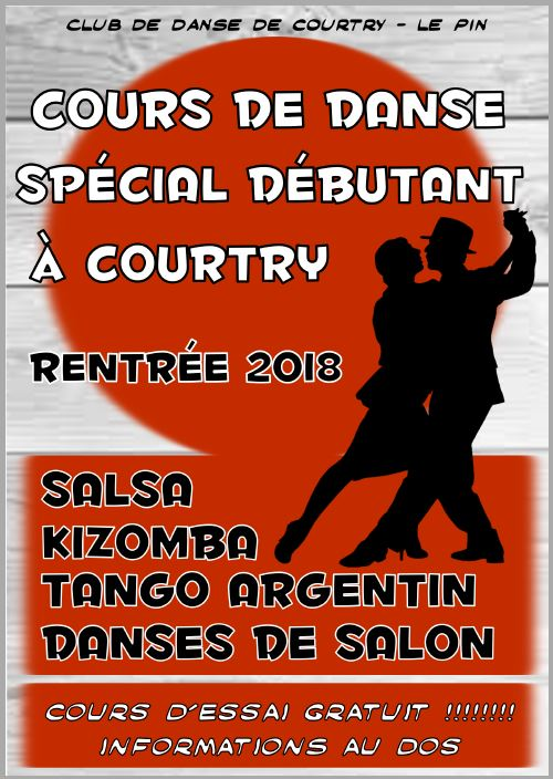 Flyer Débutants Courtry 2018 RECTO